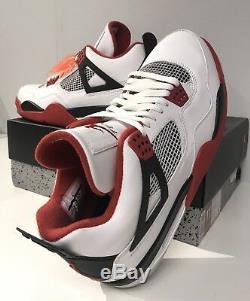 D-stock Air Jordan Retro 4 Blanc Varsity Rouge Noir IV Taille 11,5 Avec Boîte Og 2012