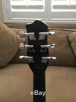 Danelectro Longhorn 90 Rouge / Noir Guitare Micros Rouge À Lèvres