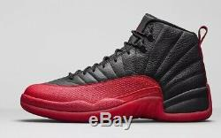 Dead Stock Nike Air Jordan XII Jeu 12 Rétro Noir Reflet 130690 002 (taille 13)