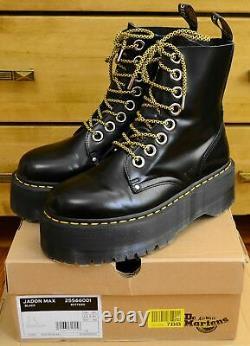 Dr Martens Jadon Max Women's Double Platform Bottes Noires, Taille Royaume-uni 6,5 Ue 40