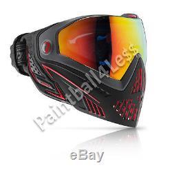 Dye I5 Paintball Airsoft Masque Masque Feu (noir / Rouge) En Stock / Bateau Gratuit