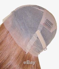 En Stock Remy Perruque Cheveux Humains Full Lace Soie Top 20 Rouge Marron 30 Noir 1b Racines