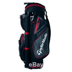 En Stock Taylormade Golf Select Panier Bag 14-way (noir / Rouge) 2019 Bateau Libre 5 Lbs