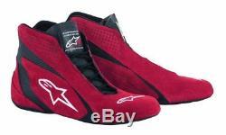 Fia Alpinestars Chaussures De Course De Kart Sp Shoe Noir / Rouge La Flamme Stock Résistant