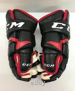 Gants De Hockey CCM 10k Pro Stock 15 Blackhawks Rouge Noir 9221