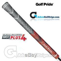 Golf Pride New Decade Multi Composé MCC Plus 4 Poignées Noir / Rouge X 13