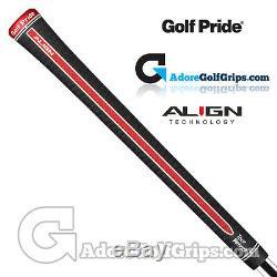 Golf Pride Tour Velvet Align Poignées Noir / Rouge / Blanc X 9