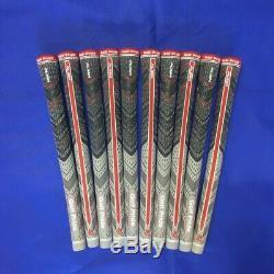 Golf Pride Véritable MCC Plus4 Aligner Poignées Taille Standard Blk / Gry / Rouge (bande Libre)