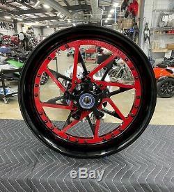 Gsxr600 / 750 Stock Taille Noir Et Rouge Forfait Centre Roue 06-07 Suzuki Gsxr600 / 750