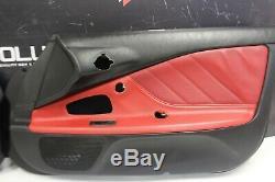 Honda S2000 Panneaux 2000-2003 De Porte Oem Couvre Stock Usine Noir / Rouge Oem