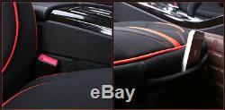 Housse De Siege Car Standard Edition Pour La Plupart Des Cuir Vehical Noir Et Rouge Pour La Plupart Des Sièges