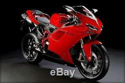 Injection De Carénage Rouge Noir Pour 2007-2012 Ducati 848 1098 1198 Us Stock