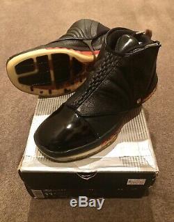 Jo 2001 Nike Air Jordan XVI 16 3/4 Salut Sz 11,5 Bred Noir Rouge Mj Chicago 12 XI