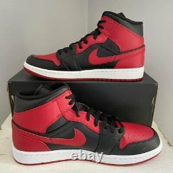 Jordan 1 MID Banned 2020 554724-074 Noir Rouge Nike Air