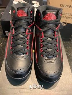 Jordan 2 Retro Dead Stock Noir Rouge Taille 10