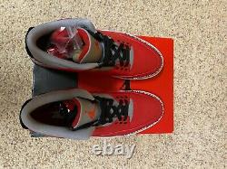 Jordan 3 Ciment Rouge Taille 11 Hommes Ck5692-600 Nib Unir Noir Élevé Nike Rétro