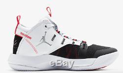 Jordan Jumpman 2020 Blanc / Noir / Rouge Orb Formateurs Limitées Hommes Stock Toutes Les Tailles