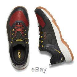 Keen Hommes Explorez Chaussures De Marche Imperméables Noir Rouge Sport Extérieur