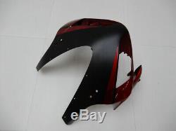 Kit De Carénage À Injection Ca Stock Noir Rouge Pour Honda 2003 2004 Cbr600rr A083
