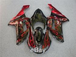 Kit De Carénage De Série Ca Pour Kawasaki 2007 2008 Zx6r 636 Noir Rouge E005