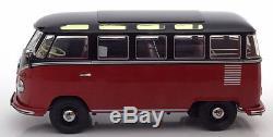 Kk Scale Models 1962 Volkswagen Bulli T1 Samba Rouge / Noir Le 1500 1/18 En Stock