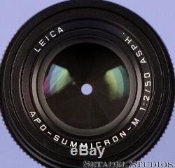 Leica 50 MM Apo-summicron-m F2 Rouge Asph Noir Echelle 11411 6bit Lens + Bx Mint Rare