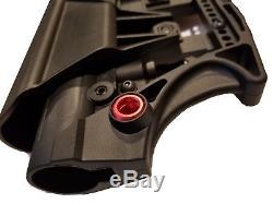 Luth Styled Mba-3 Black Rifle Stock Noir Avec Base Pivotante Rouge