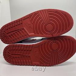 Neuf Nike Air Jordan 1 MID Red Blanc Noir 554724-122 Taille Homme 14