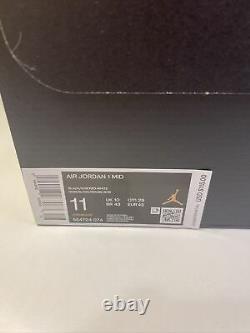 New Air Jordan 1 Interdit Taille Moyenne 11 Hommes 554724-074 Noir & Rouge Flambant Neuf À La Main