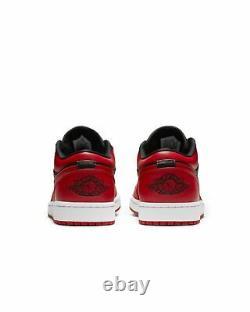 New Nike Air Jordan 1 Low Reverse Bred Noir Rouge Enfants Gs 3.5 7y, Hommes 8 10