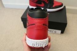 New Nike Air Jordan 1 MID Banned Black Red 554724-074 Homme Taille 10,5