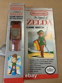 New Old Stock Nelsonic Non Utilisé Nintendo Red Legend Of Zelda Game Watch