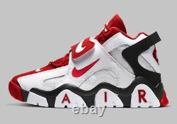 Nike Air Barrage MID Chaussures Blanc Université Rouge Noir At7847-102 Hommes Multi Taille