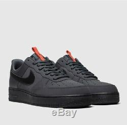 Nike Air Force 1 07 Anthracite (noir / Rouge) Uk 7 Sold Out Stock Bq4326 Morte