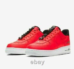Nike Air Force 1'07 Lv8 3 Chaussures Laser Crimson Double Air Cj1379-600 Hommes