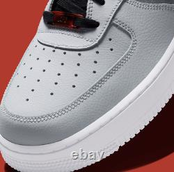 Nike Air Force 1'07 Lv8 Chaussures Noir Smoke Grey Lava Rouge Cz0337-001 Hommes Nouveau