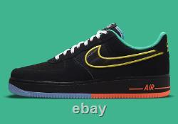 Nike Air Force 1'07 Lv8 Chaussures Peace & Unity Multi Color Dm9051-001 Nouveauté Pour Hommes