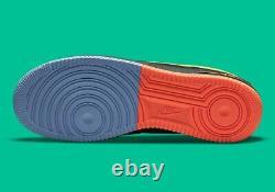 Nike Air Force 1'07 Lv8 Noir Jaune Vert Bleu Dm9051-001 Hommes Multi Taille Nouveau