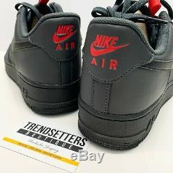 Nike Air Force 1 07 Nous Uk Noir Rouge Gris 6,5 À 12 Anthracite Bq4326-001 Hommes Taille