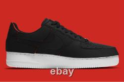 Nike Air Force 1/1 Bas Chaussures Noir Chili Rouge Dd2429-001 Patches Amovibles Pour Hommes