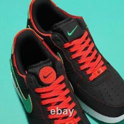 Nike Air Force 1/1 Chaussures Noir Chili Rouge Dd2429-001 Taille Homme 12 Nouveau