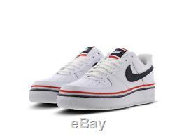 Nike Air Force 1 Blanc-noir-rouge Hommes Formateurs En Stock Toutes Les Tailles