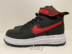Nike Air Force 1 High Winter Boot Black Red (da0418-002) Chaussures Homme Taille 10,5