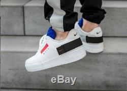 Nike Air Force 1 One Type N. 354 Basse Blanc Noir Rouge Bleu Chaussures 6 7 8 9 10 11 12