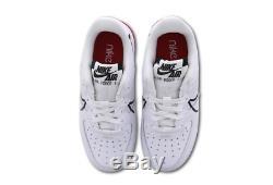 Nike Air Force 1 React Blanc-noir-rouge Junior Unisexe Formateurs En Stock
