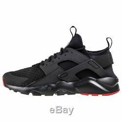 Nike Air Huarache Run Ultra-men Trainer (uk 12 / Eur 47,5) -black / Rouge Marque Nouveau