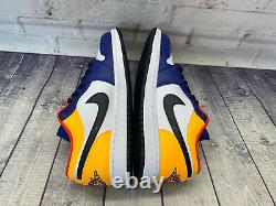 Nike Air Jordan 1 Bas Royal Jaune Bleu Rouge Chaussures 553558-123 Homme Taille 12 Nouveau