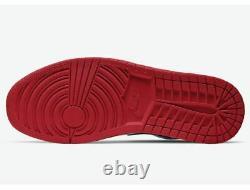 Nike Air Jordan 1 Faible Hommes Taille 5y 13 553558-118 Rouge Blanc Noir Université Nouveau