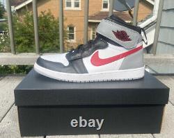 Nike Air Jordan 1 Hi Flyease Chaussures Noir Rouge Gris Taille Mens 14 Nouveau
