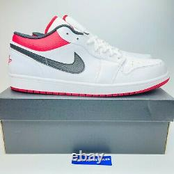 Nike Air Jordan 1 Low Retro 553558-118 Rouge Blanc Noir Université Hommes + Gs Nouveau